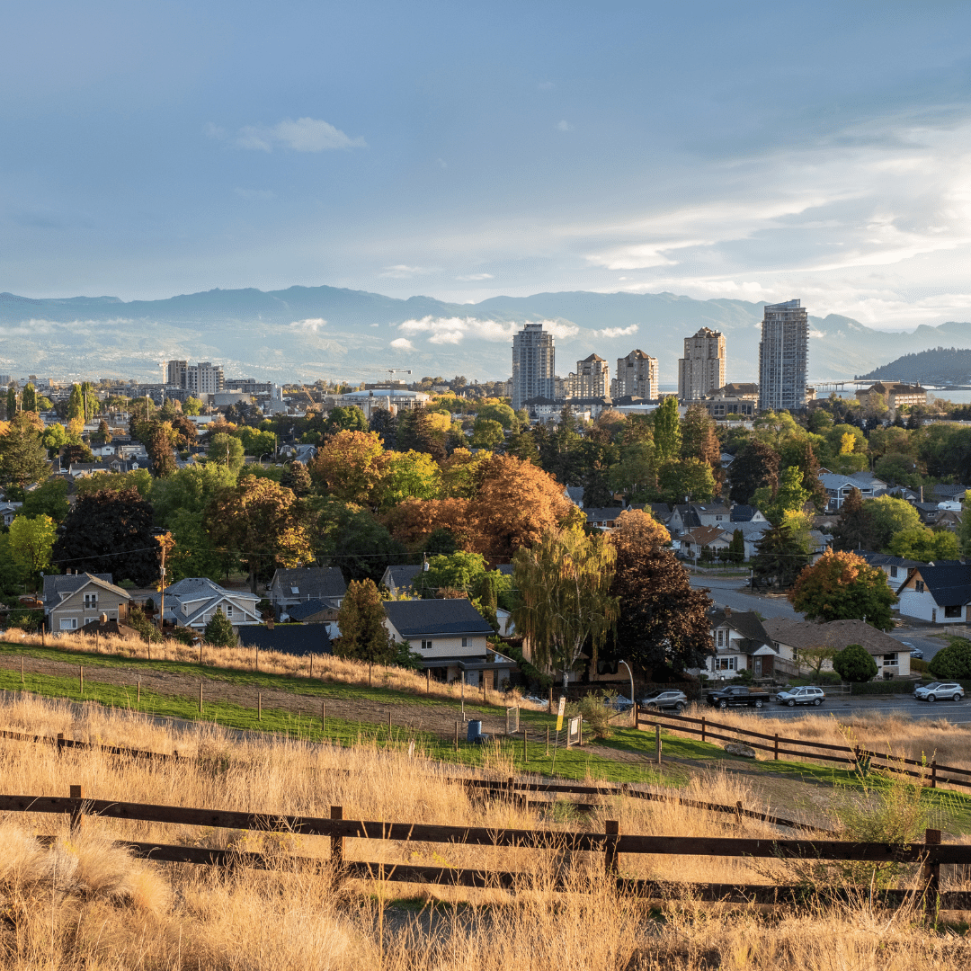 Overlooking the Okanagan Valley